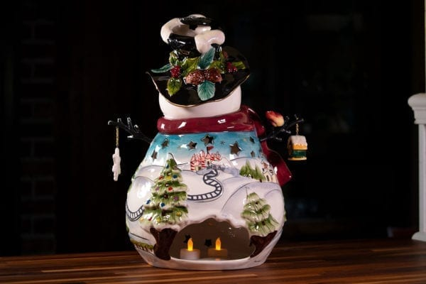 North Pole Snowman Large Candle House