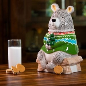 """Joy"" Woodland Bear Cookie Jar"