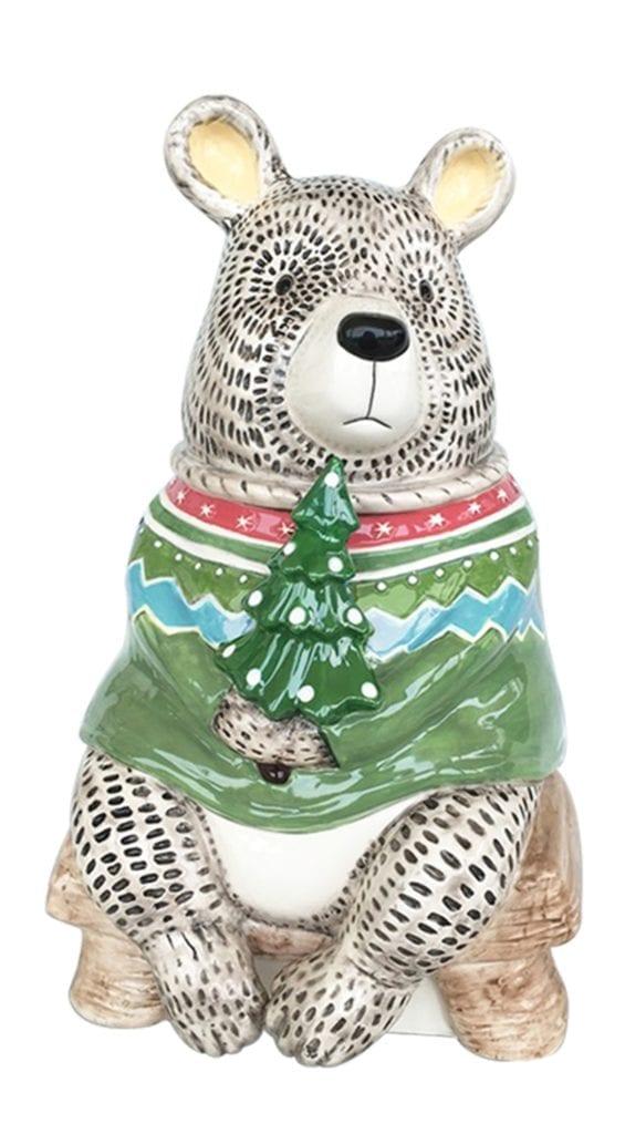 """Joy"" Woodland Bear Cookie Jar"