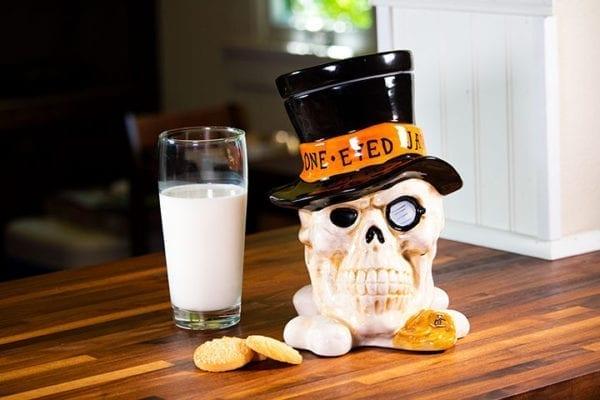 Skull Cookie Jar