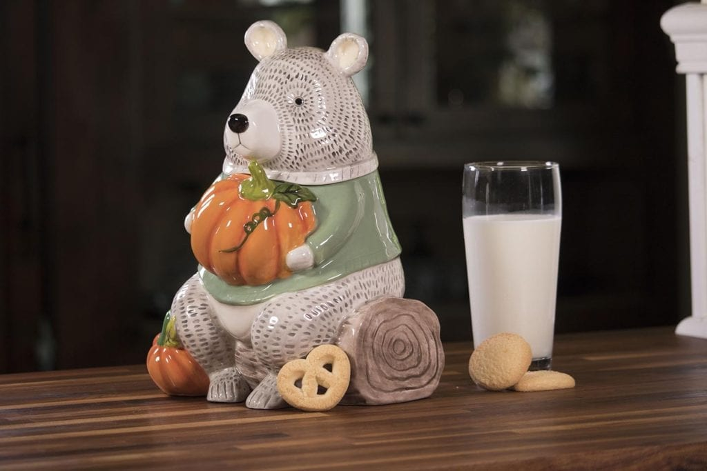 Harvest Bear Cookie Jar