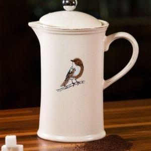 Bird French Coffee Pot
