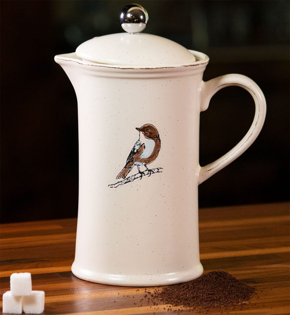Bird French Coffee Pot