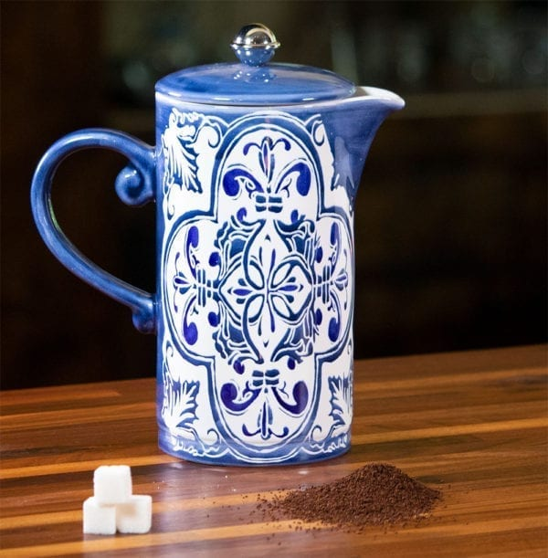 Blue Tile French Coffee Pot