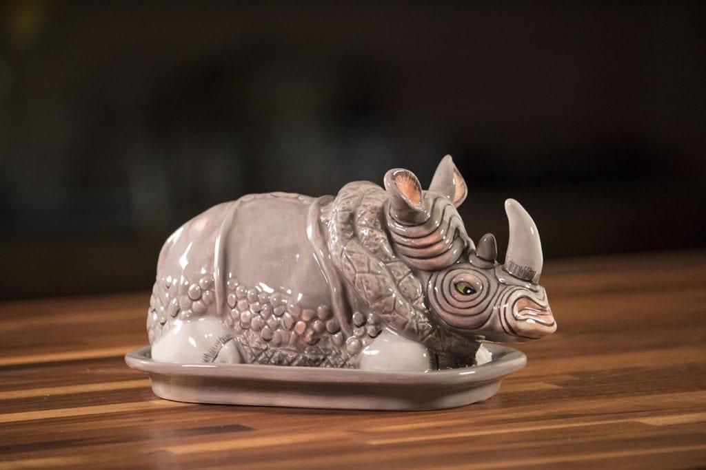 Rhino Butter Dish