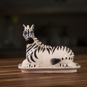 Zebra Butter Dish