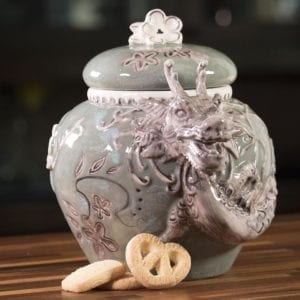 Green Dragon Cookie Jar