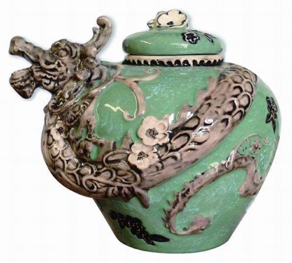 Green Dragon Cookie Jar