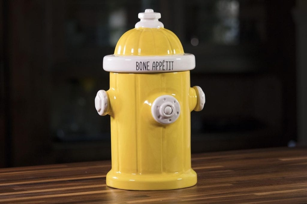 Fire Hydrant Treat Jar - Yellow