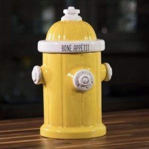 Fire Hydrant Treat Jar - Yellow