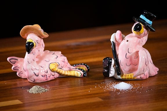 Fancy Flamingo Salt & Pepper