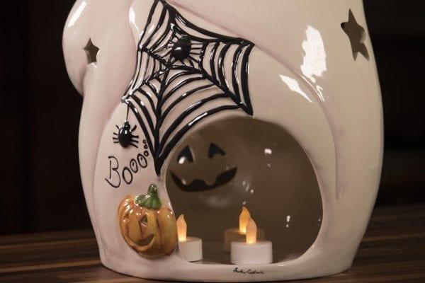 Ghost Pumpkin Patch Tealight Holder