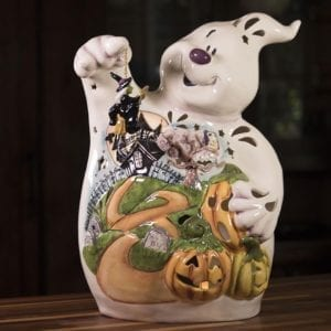 Ghost Pumpkin Patch Tealight Holder