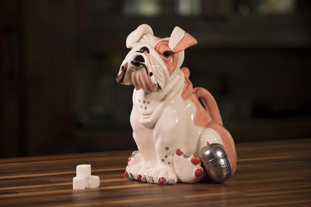 Sweet Pea Pink Bull Dog Teapot