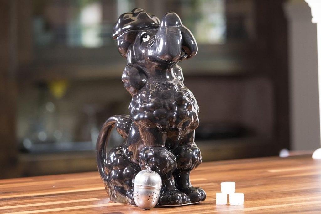 Toy Poodle Teapot - Black