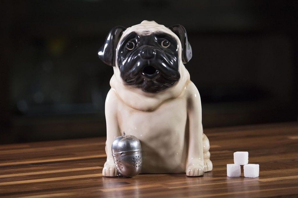 Pug Teapot - Cream