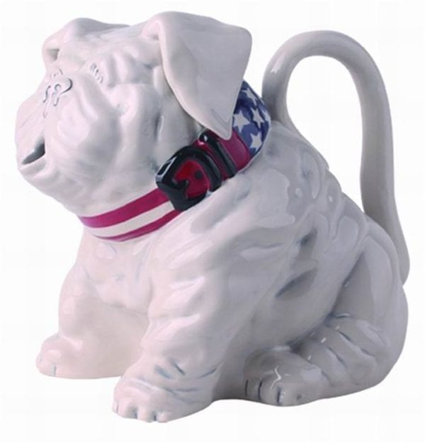 Bull Dog with Stars and Stripes Ring Teapot