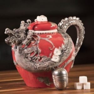 Red Dragon Teapot