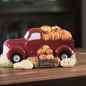 Harvest Red Truck Cookie Jar