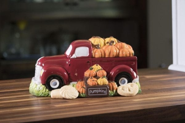 Harvest Red Truck Cookie Jar