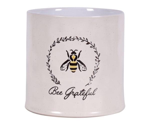"""Bee Garden Flower Pot 6.5"""""""