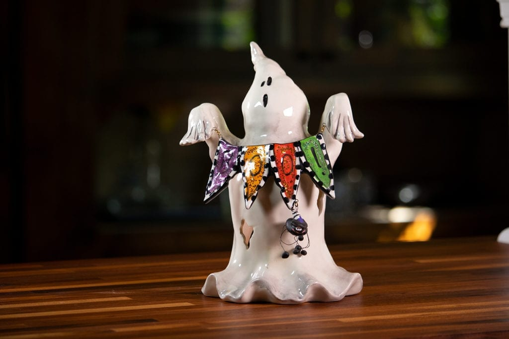 Boo Ghost Tealight Holder