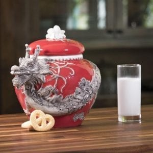Red Dragon Cookie Jar