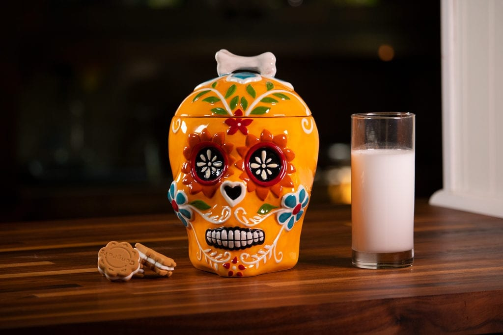 Sugar Skull Canister - Orange