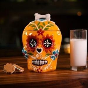 Sugar Skull Canister - Orange
