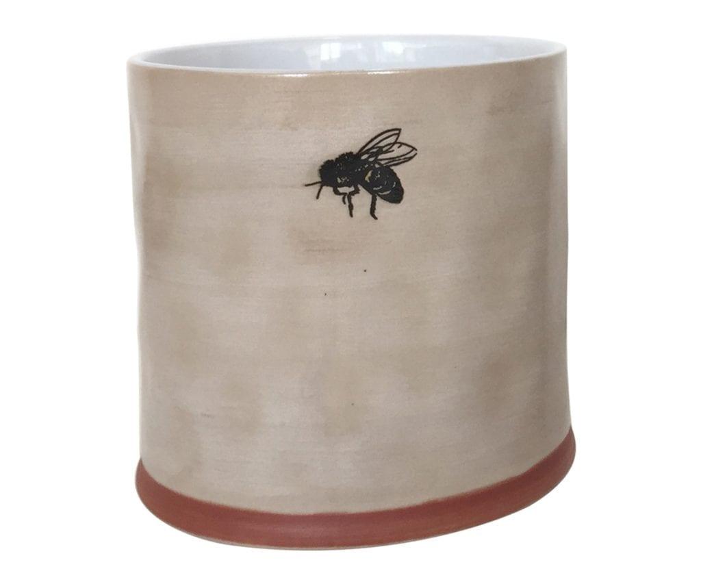 "Bumble Bee 6"" Flower Pot"