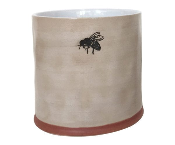 "Bumble Bee 6"" Flower Pot"