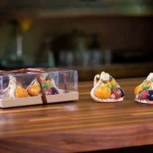 Bountiful Thanksgiving Cornucopia Salt & Pepper Set