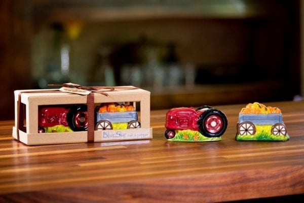 Tractor And Wagon Salt & Pepper Set