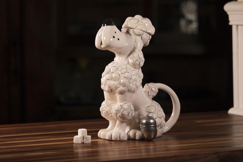 Toy Poodle Teapot - White