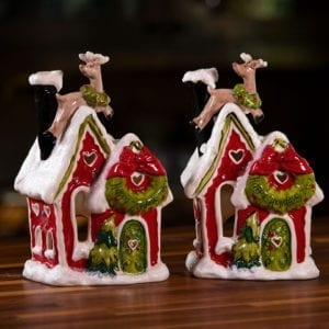 Happy Holiday Deer Candle House – Duo