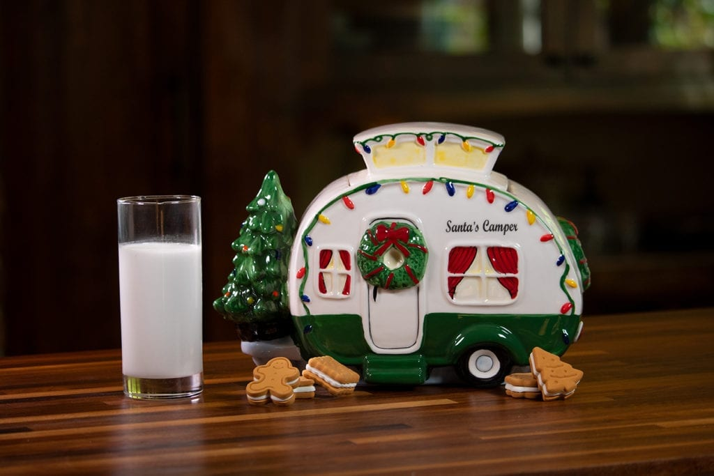 Retro Camper Cookie Jar - Green