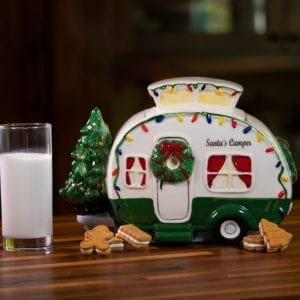Retro Camper Cookie Jar - Green