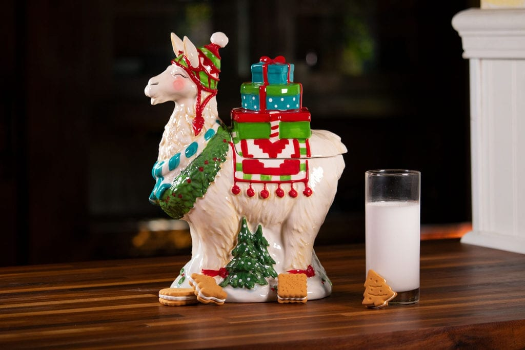 Christmas Llama Cookie Jar