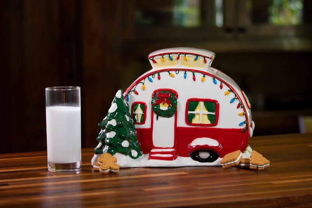 Retro Camper Cookie Jar - Red