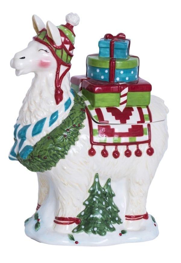 Christmas Llama Cookie Jar