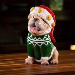 Santa Dog Figurine
