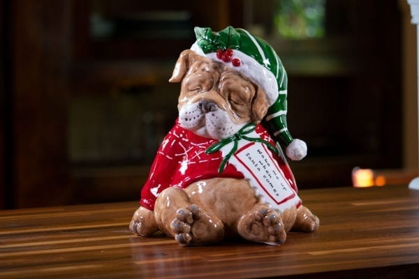 Sleepy Santa Dog Figurine