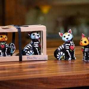 Day Of Dead Cat And Dog Salt & Pepper Set