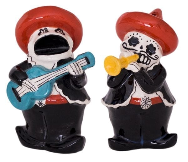 Day of Dead Music Men Salt & Pepper Set