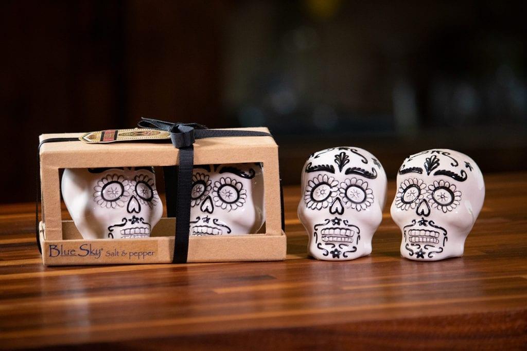 White Skull Salt & Pepper Set