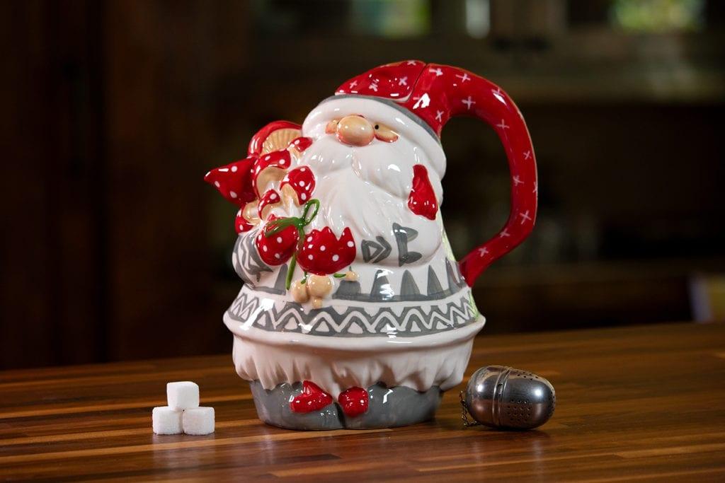 Christmas Gnome Teapot