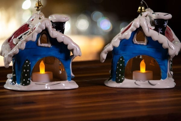 Rudolph Jingle Bell Shop Candle House - Duo