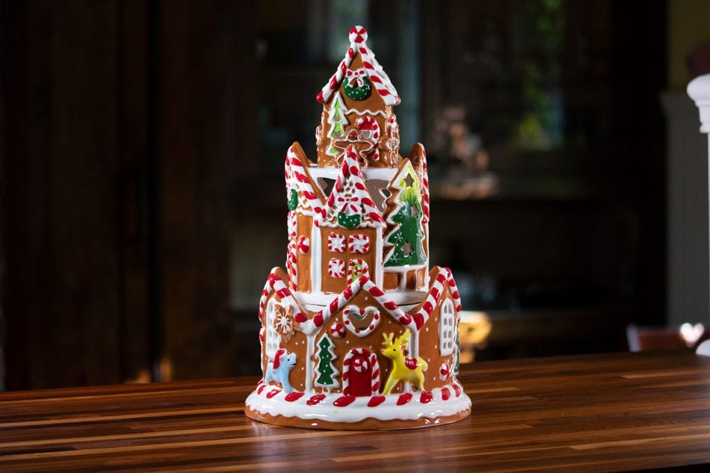 Gingerbread Castle Tower Candle House