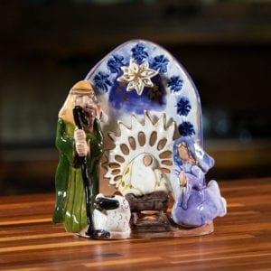 Traditional Nativity Tealight Holder