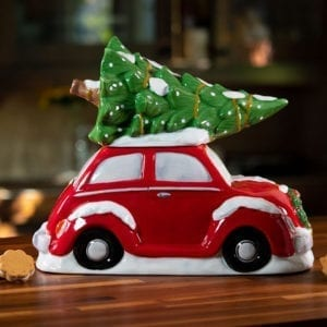 Red Bug Tree Cookie Jar